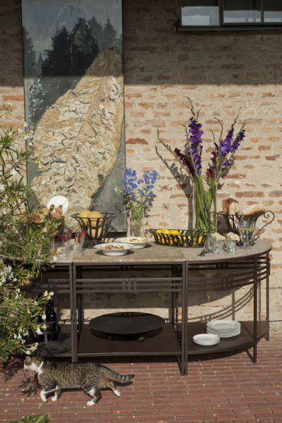 Tisch Pescara mit Steinauflage Mittelteil
