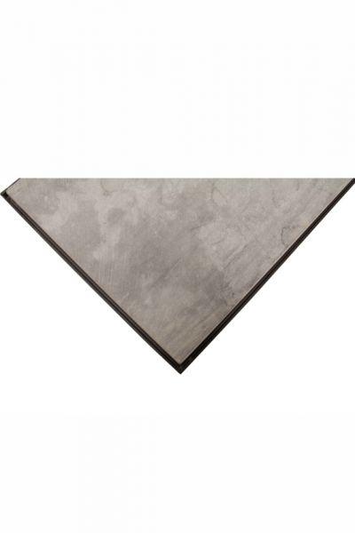 Platte Stein, grey, 100 cm, Halbmond