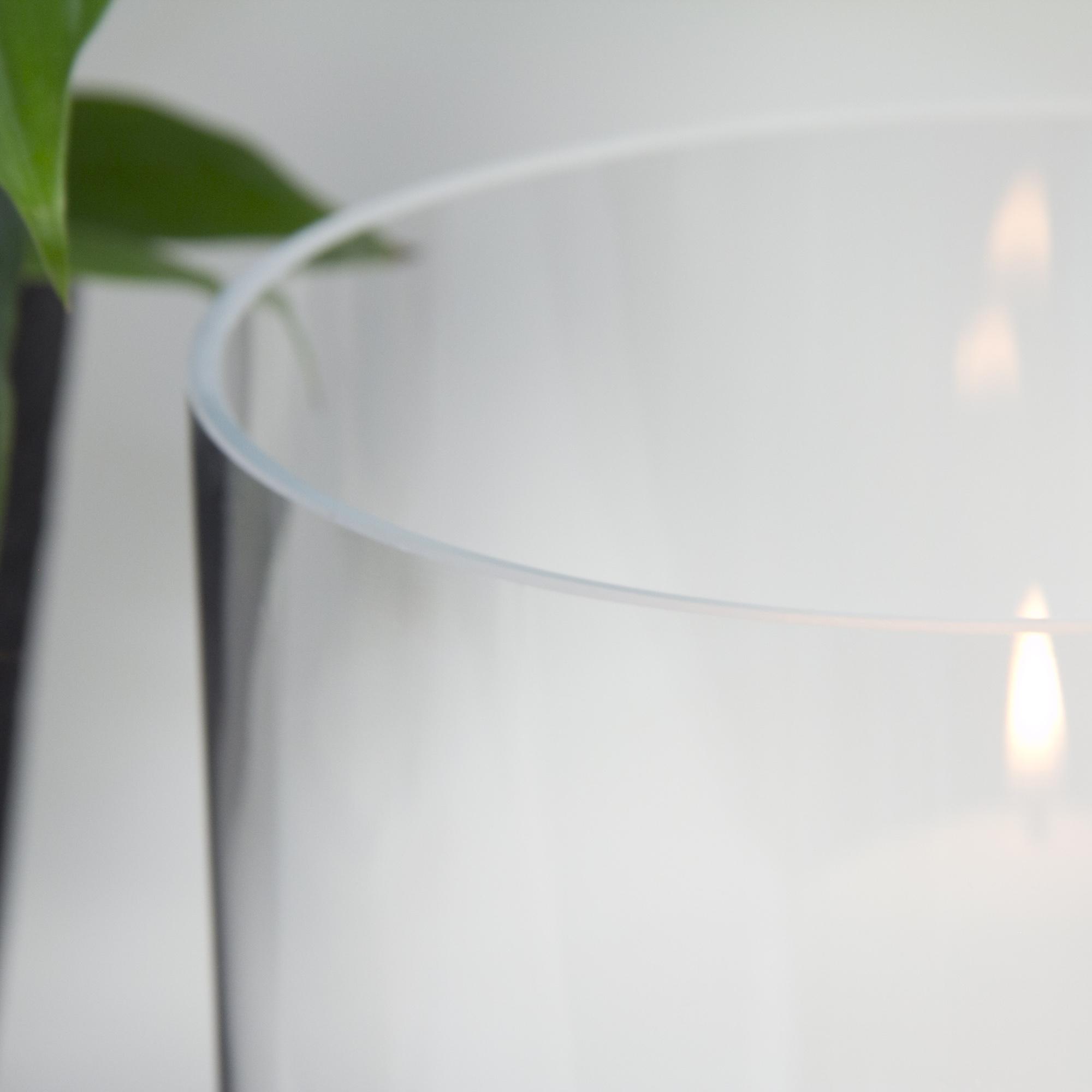 Varia Living Glaszylinder ohne Boden f/ür Windlicht Verschiedene Gr/ö/ßen verf/ügbar Ersatzglas transparent offenes Glasrohr gro/ß /Ø 14,5 cm//H 16 cm f/ür drau/ßen und innen