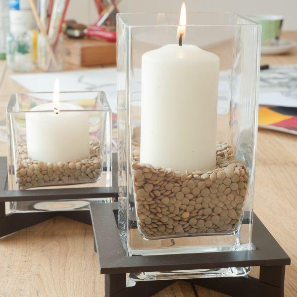 Quadrat / Windlicht / Vase Glas (mit Boden 14057)