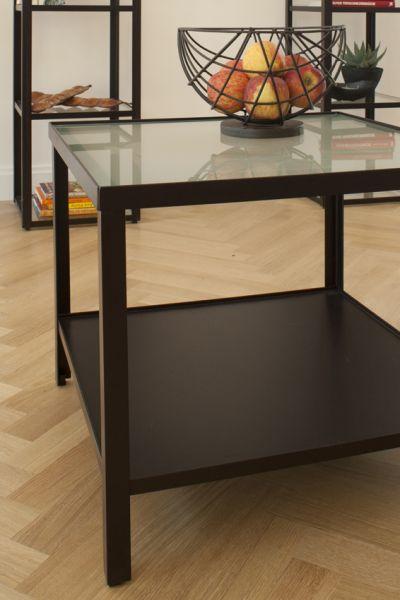 Tisch Vincent, Glaseinlage satiniert