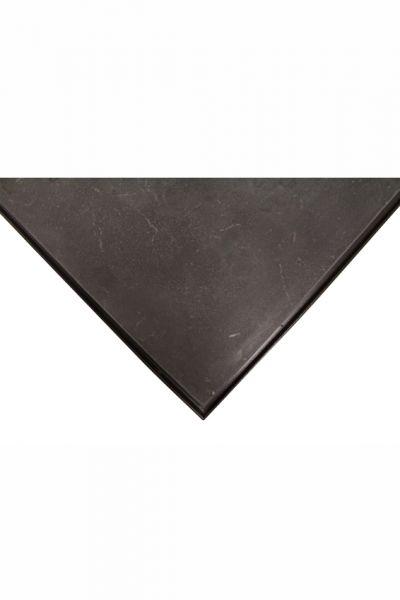 Platte Stein,schwarz/poliert, 80 x 80 cm, Viertel